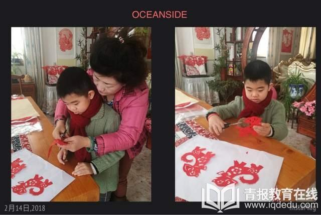 市实验小学而你而年级三班:贴福字写春联,红领巾欢度中国年