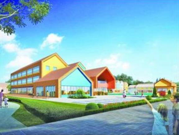 西海岸新区兰东路将新建一处幼儿园,外形酷似积木